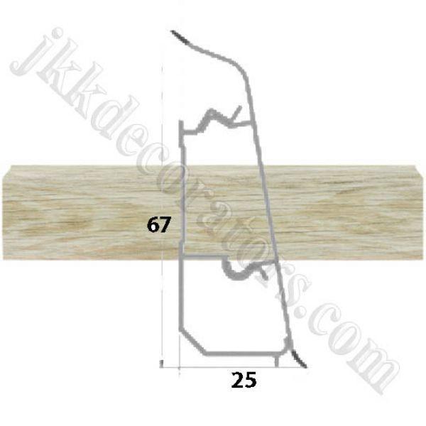 Плинтус пластиковый напольный Декор-Пласт 2500х67х25мм. Туя светлая LL013 / шт.