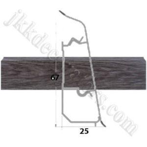 Плинтус пластиковый напольный Декор-Пласт 2500х67х25мм. Глаб темный LL023 / шт.