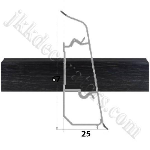 Плинтус пластиковый напольный Декор-Пласт 2500х67х25мм. Венге Темный LL028 / шт.