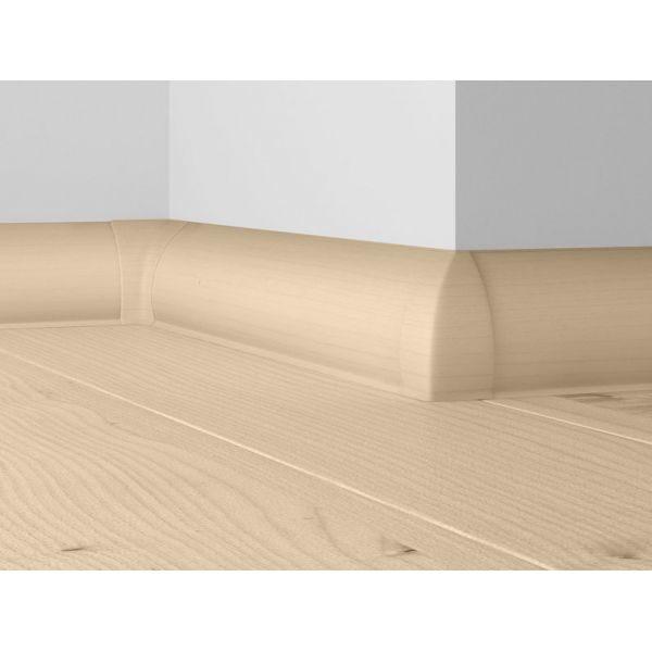 Плинтус пластиковый Dollken напольный 63x26x2500 мм. MD-63 Белый / шт.