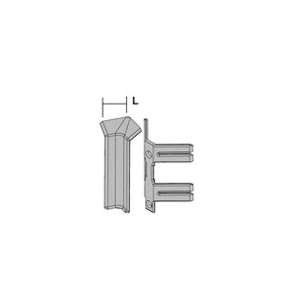 Внутренний угол анод. серебро PKIAGI 100 для плинтуса Proskirting ISP-100
