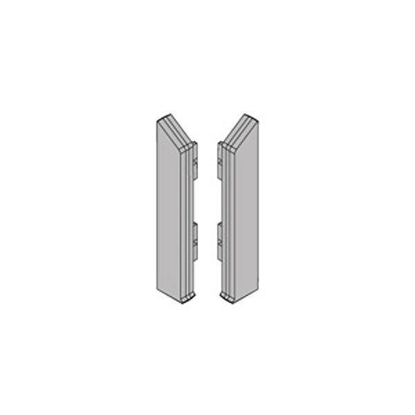 Заглушки торцовые (лев.+прав.) анод. серебро PKITDSAA 70/5 для плинтуса Proskirting ISP-70