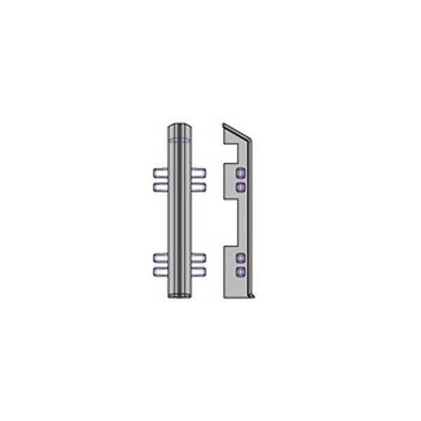 Соединитель анод. серебро PKIGIN 100 для плинтуса Proskirting ISP-100