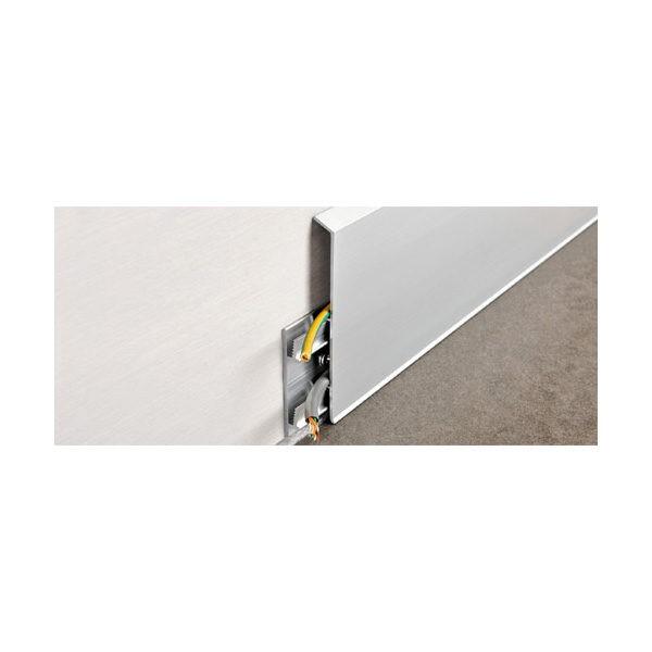 Наружный угол анод. серебро PKIAGE 100 для плинтуса Proskirting ISP-100