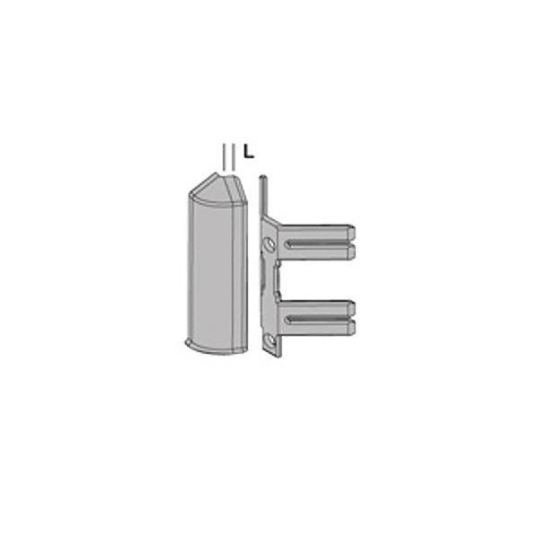 Плинтус алюминиевый анодированное серебро Proskirting ISP PKISPAA 70 2м.