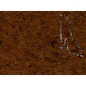 Плинтус Шпонированный Pedross 40x22x2500 Пробка коричневая / шт.