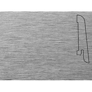 Плинтус Шпонированный Pedross 60x15x2500 Алюминий светлый / шт.