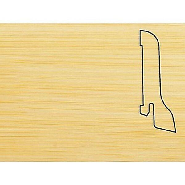 Плинтус Шпонированный Pedross 2500х60х22 Бамбук светлый / шт.