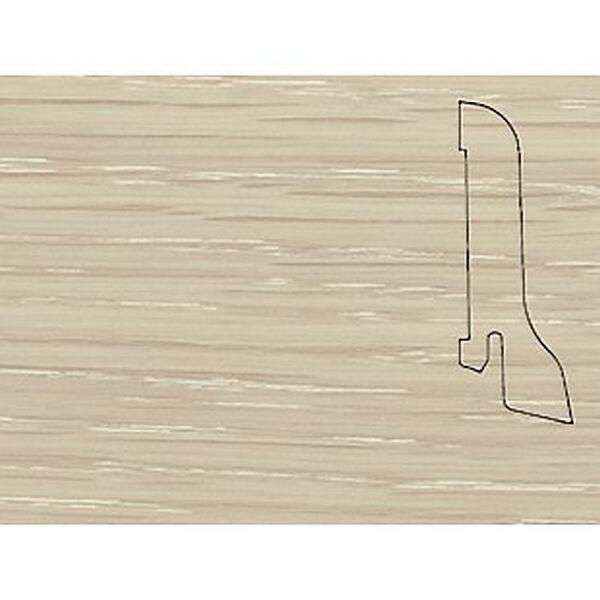 Плинтус Шпонированный Pedross 2500х60х22 Дуб арктика / шт.