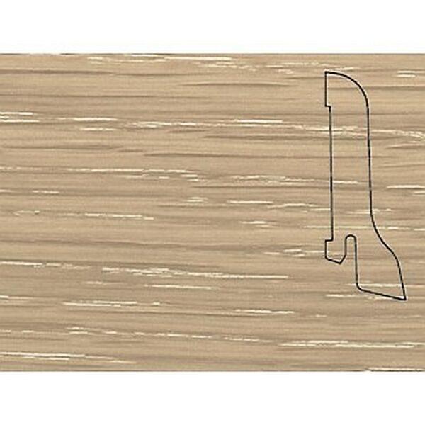 Плинтус Шпонированный Pedross 2500х60х22 Дуб латте / шт.