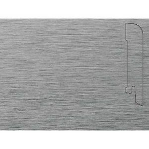Плинтус Шпонированный Pedross 2500х70х15 Алюминий светлый / шт.
