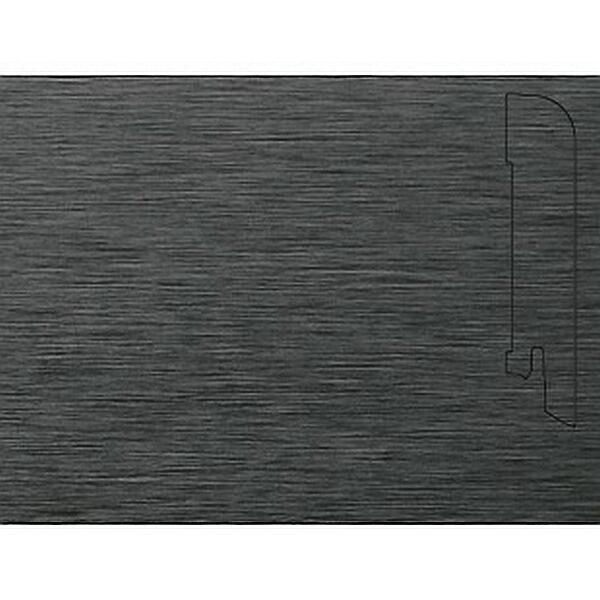 Плинтус Шпонированный Pedross 2500х70х15 Алюминий темный / шт.