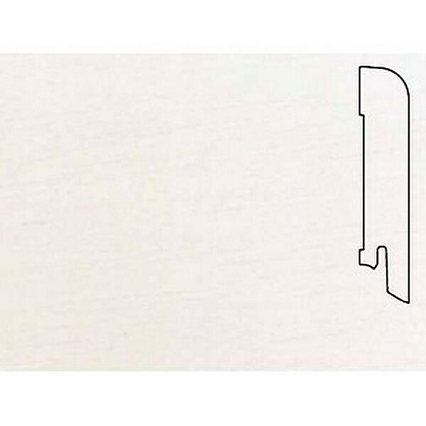 Плинтус Шпонированный Pedross 2500х70х15 Белый / шт.