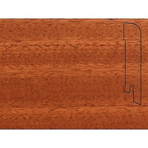 Плинтус Шпонированный Pedross 2500х70х15 Махагон / шт.