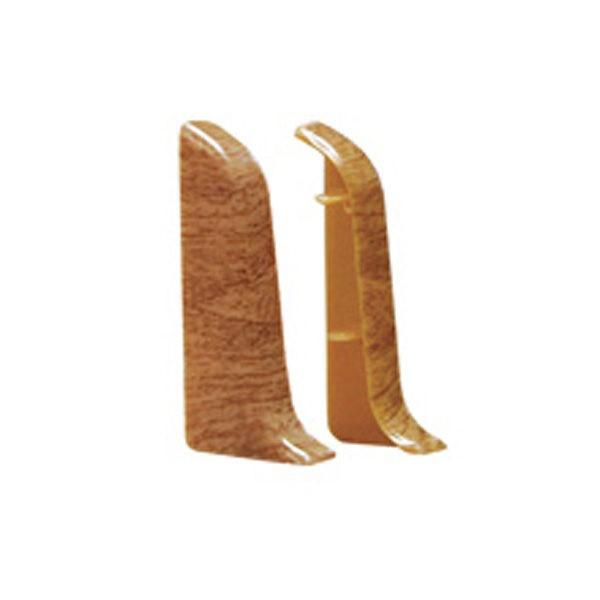 Торцевые (пара) на плинтус пластиковый Идеал O55-Тп