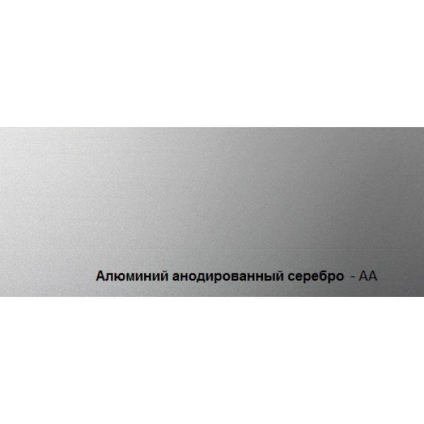 Плинтус алюминиевый анодированное серебро Proskirting flat PKFLAA 60 2м.