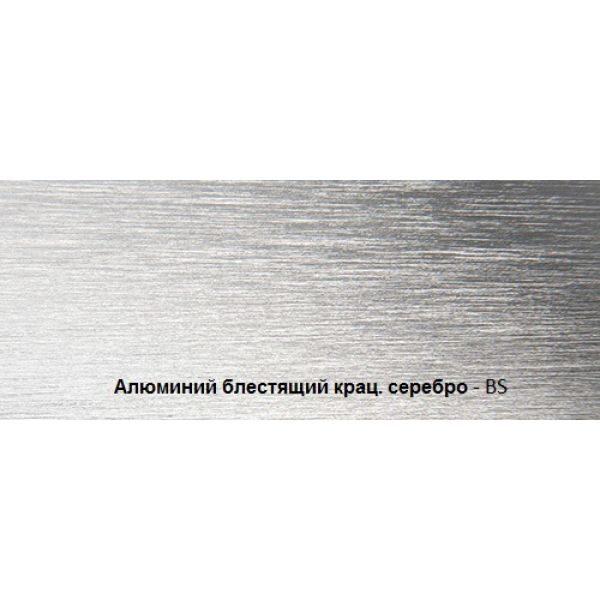 Плинтус алюминиевый крацованный, серебро, BTBS 60 - Progress profiles