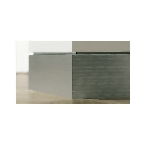Плинтус алюминиевый белый Proskirting flat PKFLA 60-01 2м.