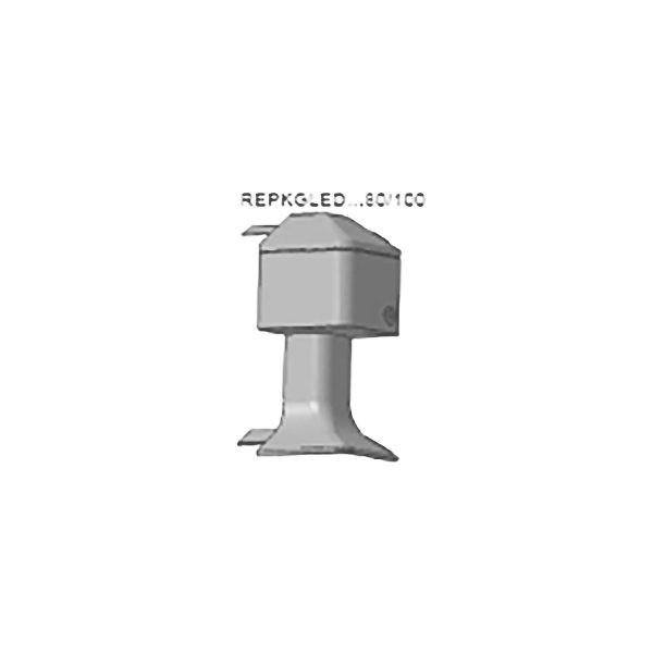 Наружный угол REPKGLEDBC 80, блестящий хром, для плинтуса PROSKIRTING GILED, Progress profiles