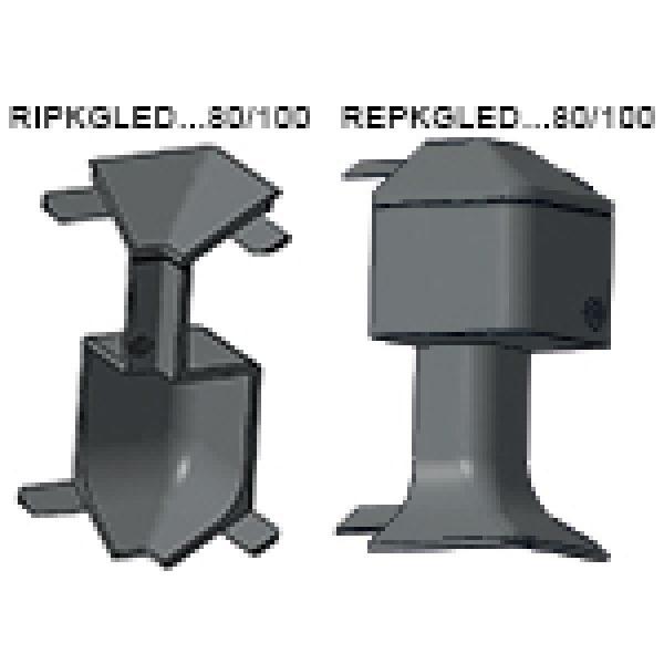 Плинтус с подсветкой, алюминиевый анодированный серебро, PKGLEDAA 80 - PROSKIRTING GILED, Progress profiles 2м.