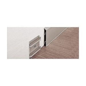 Плинтус алюминиевый анодированный щиткованный титан Proskirting ISP PKISPTS 70 2м.