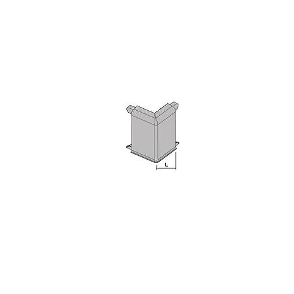 Наружный угол PKAGE 80, для плинтуса с подсветкой PROSKIRTING LED, Progress profiles