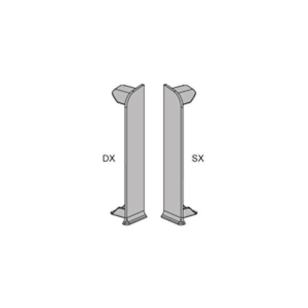 Заглушки (лев.+прав.) PKTDSAA 80/5, для плинтуса с подсветкой PROSKIRTING LED, Progress profiles
