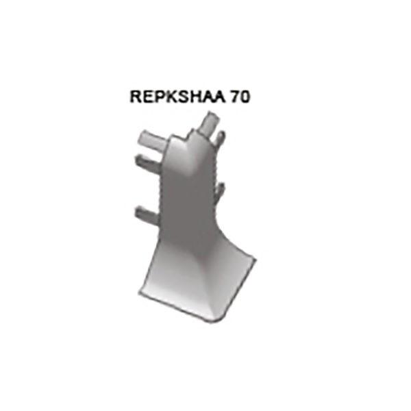 Наружный угол REPKSHAA 70, для плинтуса PROSKIRTING SHELL, Progress profiles