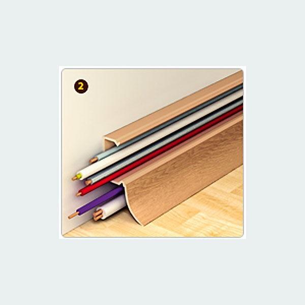 Плинтус пластиковый Идеал (Ideal) Комфорт, 2500 х 55 мм. К55, Черный 007 / шт.