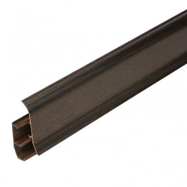 Напольный пластиковый плинтус пвх Идеал Элит е67 301 Венге (ideal elit 67х22х2500 мм)