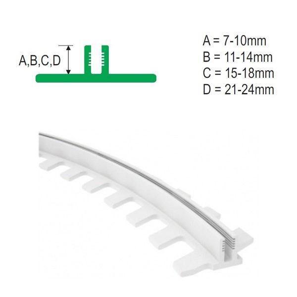 Плинтус напольный пластиковый Идеал Система 80x22x2200, с кабель-каналом, 001-G Белый глянцевый / шт.