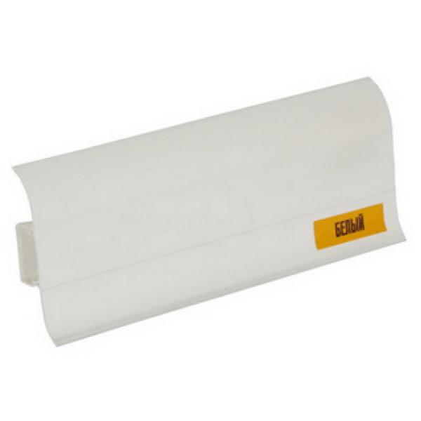 Напольный пластиковый плинтус пвх Идеал Комфорт к55 001 Белый (ideal Comfort 55х22х2500 мм)