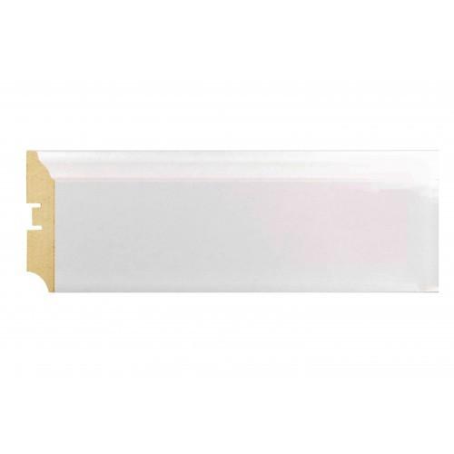 Плинтус МДФ Smartprofile Металлизированный 82 Белый лак 2,4 м
