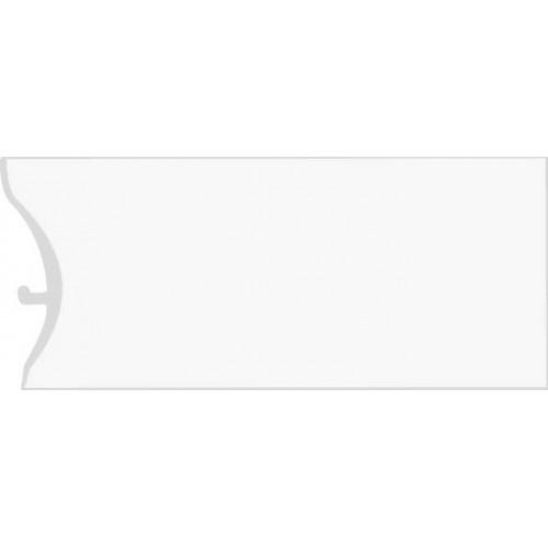 Каннелюрный трехсоставной плинтус для линолеума белый
