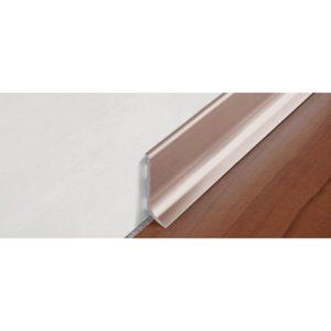 Плинтус алюминиевый анодированный, блестящий титан, BTBT 100 - Progress profiles