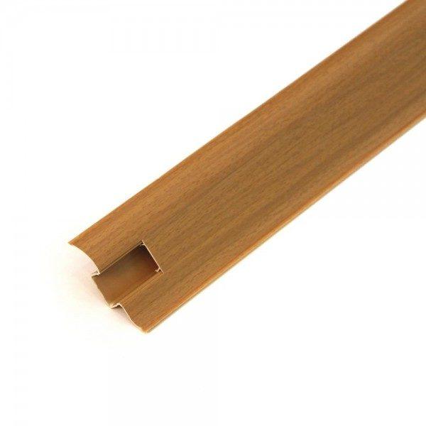 Напольный пластиковый плинтус пвх Идеал Комфорт к55 231 Бук (ideal Comfort 55х22х2500 мм)