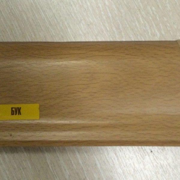 Напольный пластиковый плинтус пвх Идеал Элит Макси м85 231 Бук (ideal elit maxsi 85х25х2500 мм)