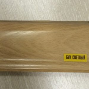 Напольный пластиковый плинтус пвх Идеал Элит е67 233 Бук светлый (ideal elit 67х22х2500 мм)