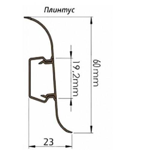 Плинтус ПВХ с мягким краем Toive 60 мм F084 Friskan