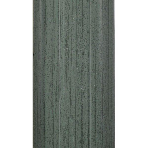 Напольный пластиковый плинтус пвх Идеал Комфорт к55 Зеленый 027 (ideal Comfort 55х22х2500 мм)