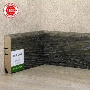 Плинтус МДФ Hannahholz 2400х68×16мм Дуб серый-024 / шт.