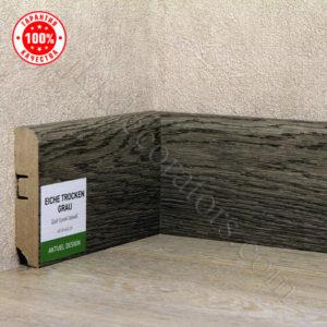 Плинтус МДФ Hannahholz 2400х68×16мм Дуб сухой серый-023 / шт.