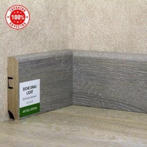 Плинтус МДФ Hannahholz 2400х68×16мм Дуб серый светлый-025 / шт.
