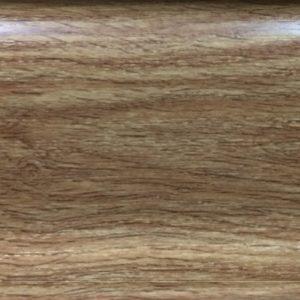 Плинтус напольный пластиковый Идеал Оптима, O55, 2500 х 55 мм. 3D Дуб янтарный-221 / шт.
