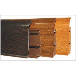 Напольный пластиковый плинтус пвх Идеал Элит е67 282 Палисандр серый (ideal elit 67х22х2500 мм)