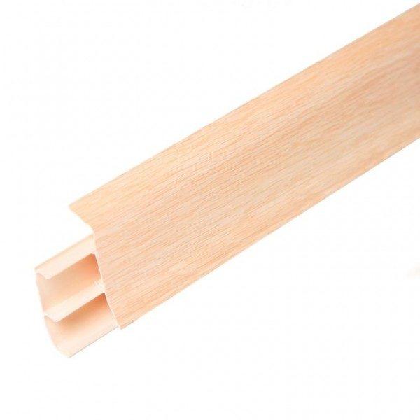Напольный пластиковый плинтус пвх Идеал Элит е67 262 Клен вермонт (ideal elit 67х22х2500 мм)