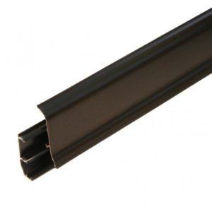 Напольный пластиковый плинтус пвх Идеал Элит Макси м85 302 Венге черный (ideal elit maxsi 85х25х2500 мм)