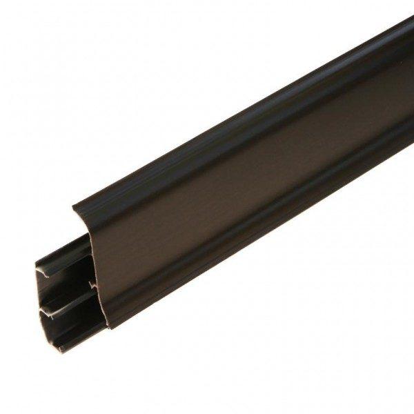Напольный пластиковый плинтус пвх Идеал Элит е67 302 Венге черный (ideal elit 67х22х2500 мм)
