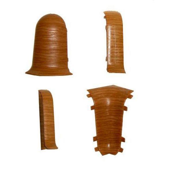 Плинтус пластиковый напольный Wimar (Вимар), ПВХ, с кабель-каналом 2500 х 58 мм. Дуб обыкновенный / шт.