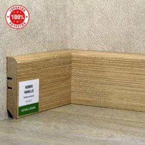 Плинтус МДФ Hannahholz 2400х68×16мм Кобики ваниль-07 / шт.